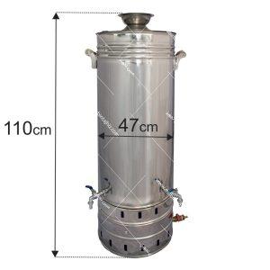 سماور-استیل-۱۲۰-لیتری
