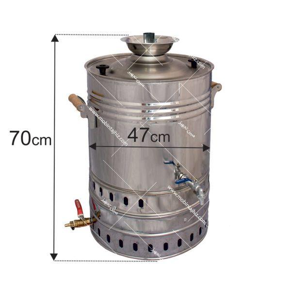 سماور-گازی-۶۰-لیتری-تنوره-دار