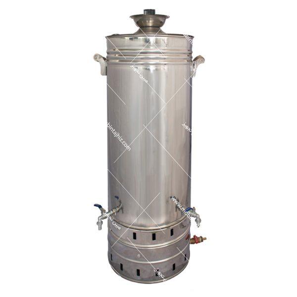 سماور-استیل-گازی-۱۲۰-لیتری-تنوره-دار