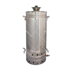 سماور-استیل-گازی-۹۰-لیتری-تنوره-دار