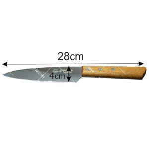 چاقو-راسته-ای-دسته-چوبی-سایز-دو