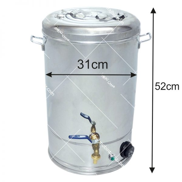 سماور-استیل-برقی-۲۰-لیتری
